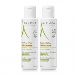A-Derma Exomega Foaming Gel Emollient-2 x 500ml