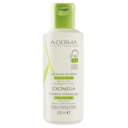 A-Derma Exomega Cleansing Emollient Gel-200ml