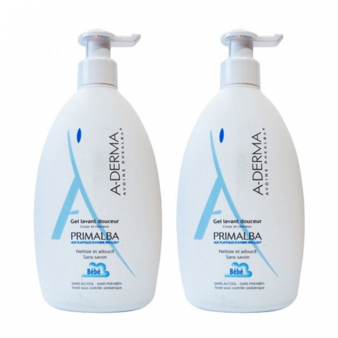 A-Derma Primalba Gentle Cleansing Gel-2 x 500ml