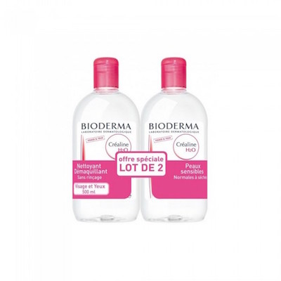 Bioderma Crealine H2O Micellar Solution DUO-2 x 500ml