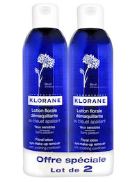 Klorane Makeup Remover Pack of 2 x 200ml