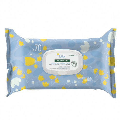 Klorane Baby Gentle Cleansing Pads-70 Pads