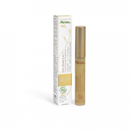 Melvita 2 in 1  Lip Gloss-5ml