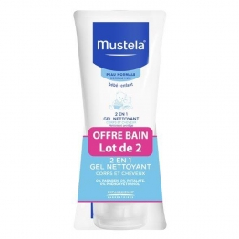 MUSTELA 2 in 1 Hair and Body Wash-2 x 200ml