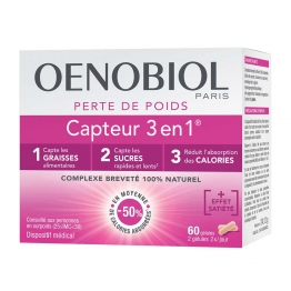 Oenobiol Weight Loss Capteur 3 in 1 - 60 Capsules