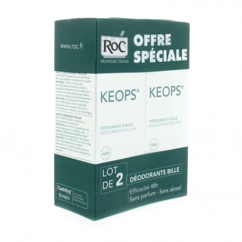 RoC Keops Deodorant Roll-On-2 x 30ml