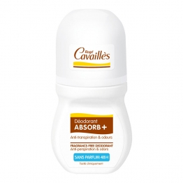 Roge Cavailles Absorb +   Rollon Deodorant-Fragrance Free 2 x 50ml