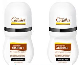 Roge Cavailles Absorb + Invisible  Deodorant Roll-On-2 x 50ml