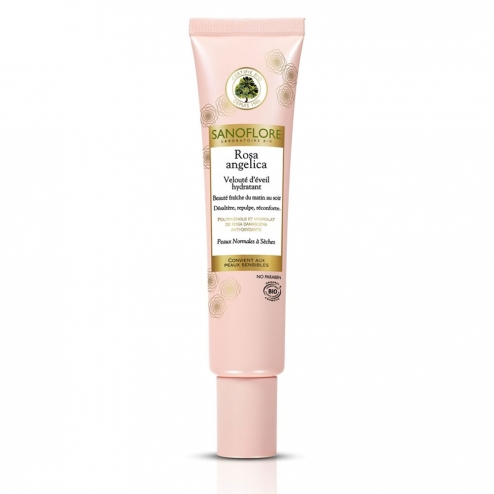 Sanoflore Rosa Angelica Re-Hydrating Velvet Awakening-Dry Skins -40ml
