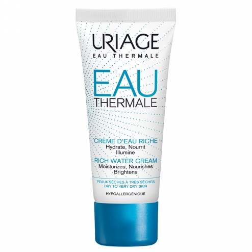 Uriage Water Cream-Rich SPF20-Dry to Very Dry Skins-40ml