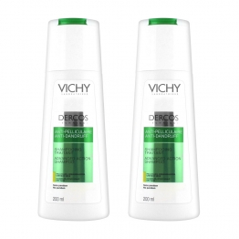 Vichy Dercos Anti-Dandruff Shampoo-Dry Hair-2 x 200ml