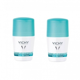 Vichy Deodorant Anti-Trace Rollon-2 x 50ml