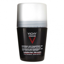 Vichy Men Deodorant Roll-On for Sensitive Skin 48H-50ml